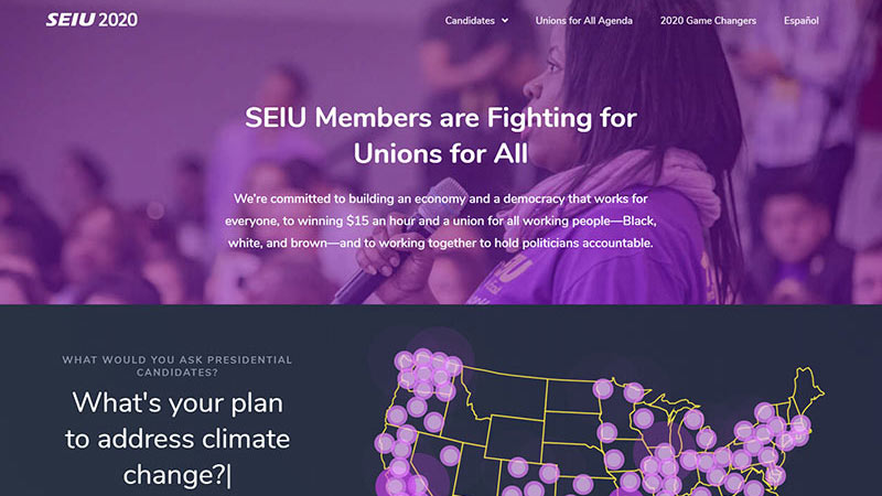 SEIU2020.org website